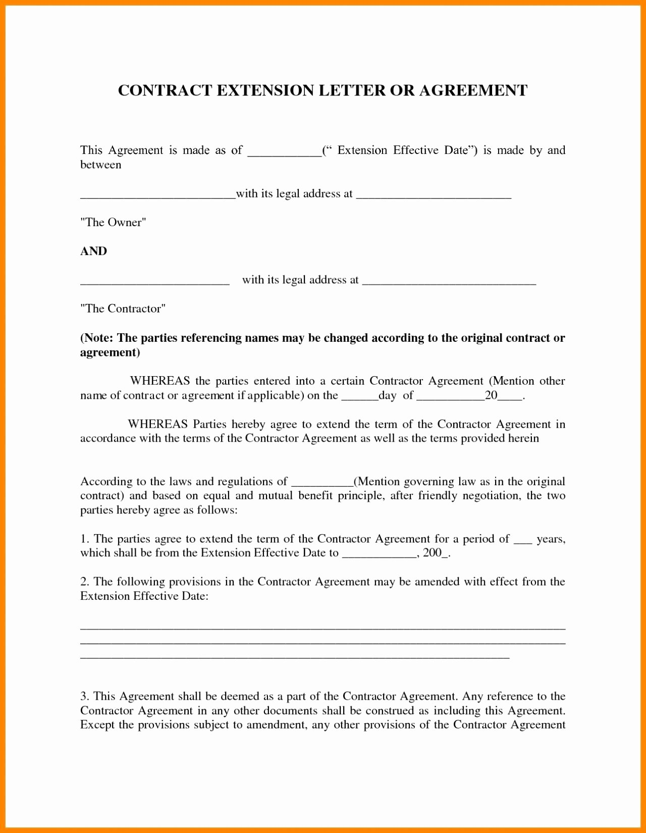 Letter Of Agreement Template Free Lovely 9 Contract Agreement Letter Examples Pdf