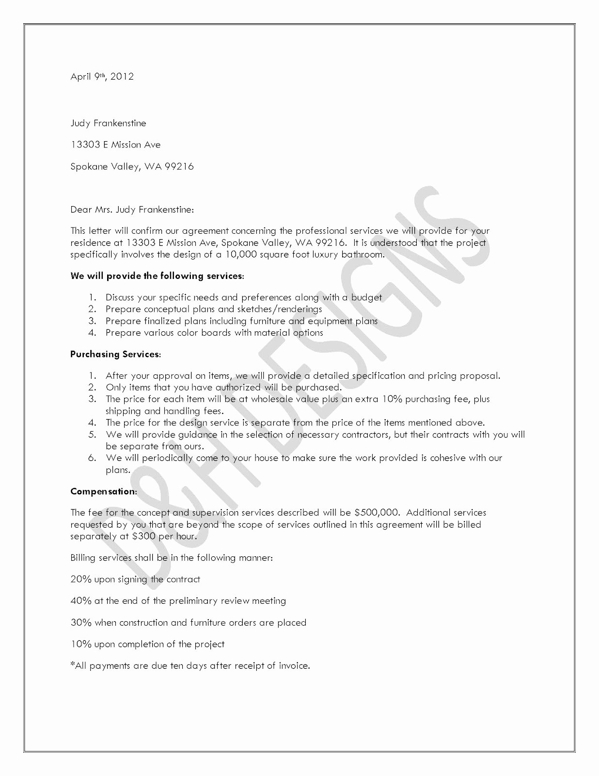 Letter Of Agreement Template Free New Free Printable Letter Of Agreement form Generic
