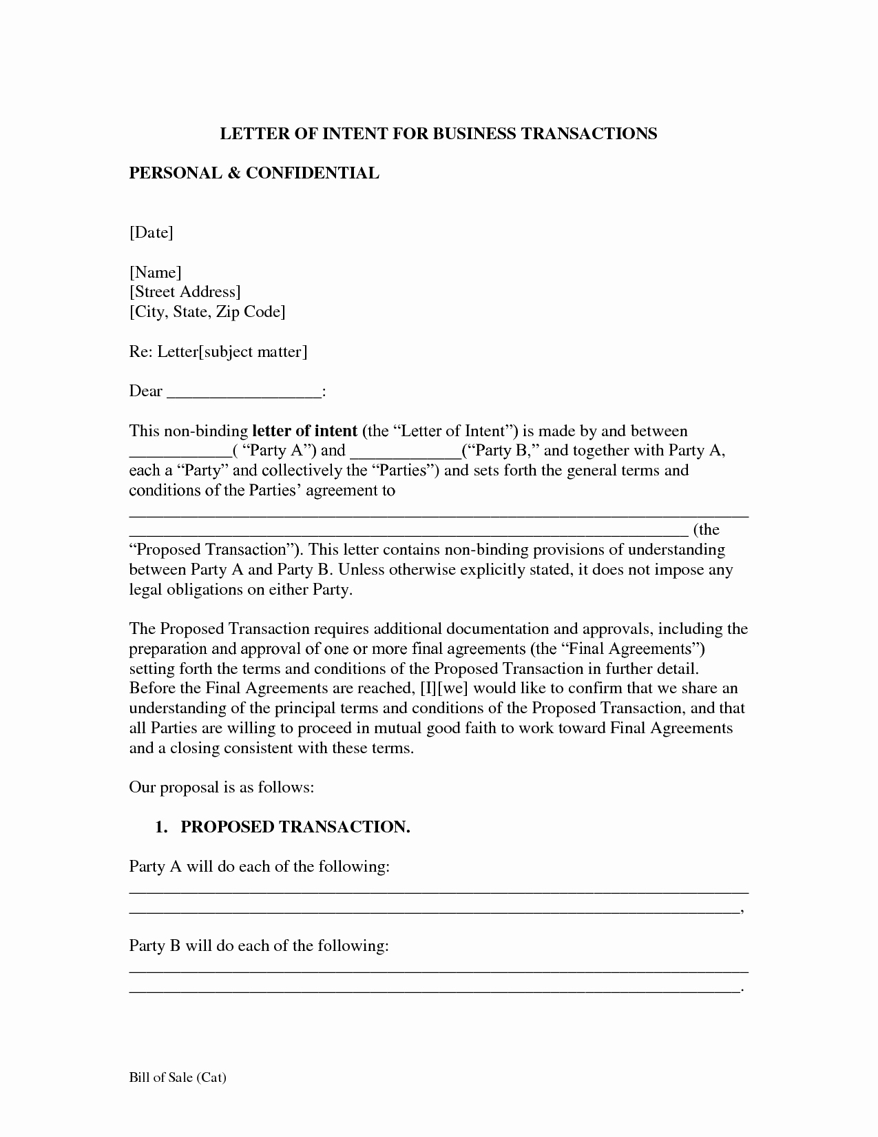 Letter Of Intent Template Beautiful Letter Intent Free Printable Documents
