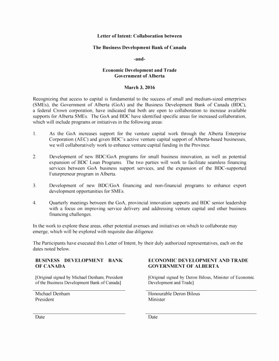 Letter Of Intent Template New 40 Letter Of Intent Templates & Samples [for Job School