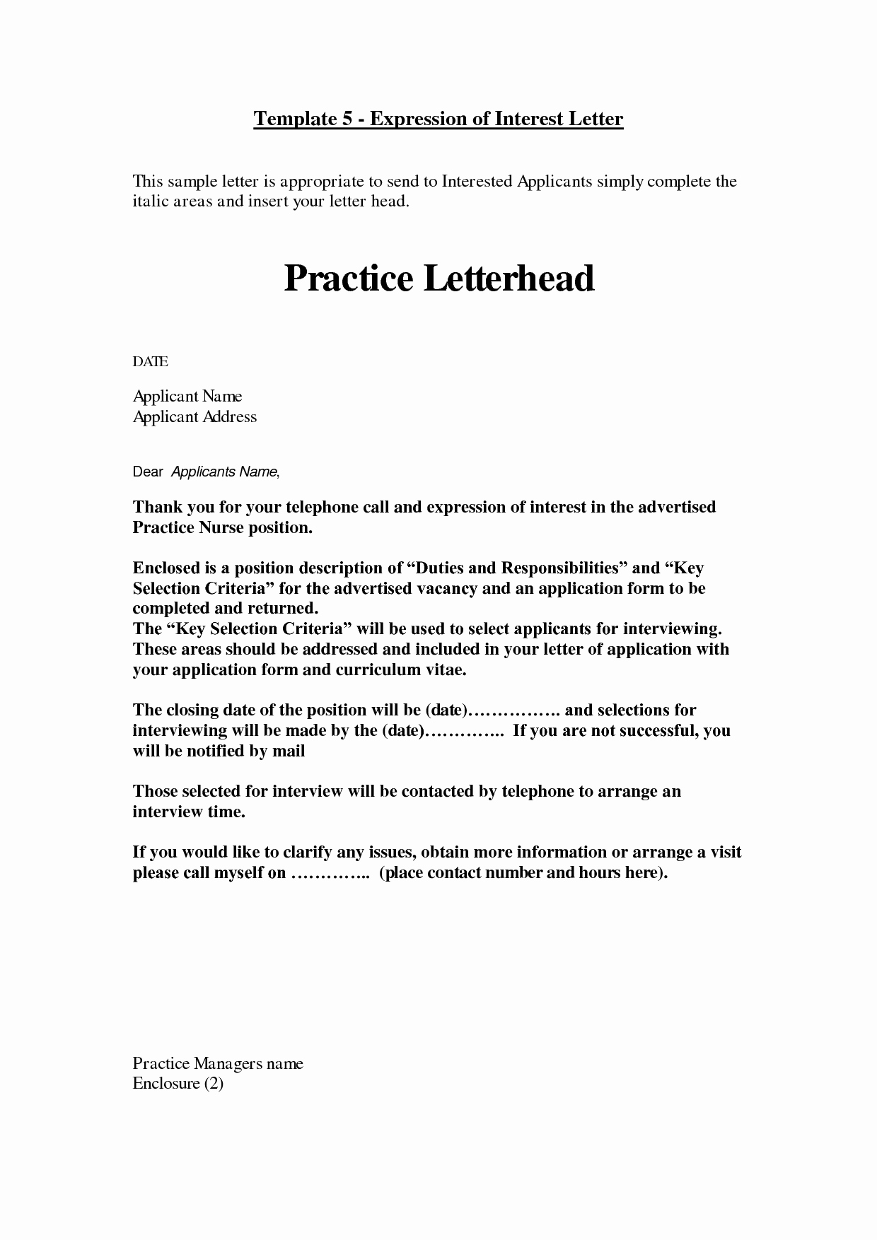 Letter Of Interest Template Free Unique How to Write A Cover Letter Of Interest Example for A Job