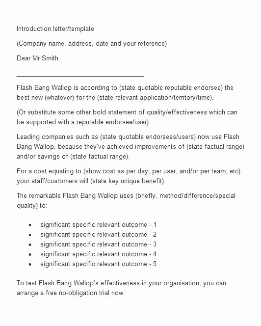 Letter Of Introduction Templates Awesome 40 Letter Of Introduction Templates & Examples