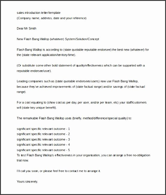 Letter Of Introduction Templates Best Of 4 Printable Business Introduction Email Template
