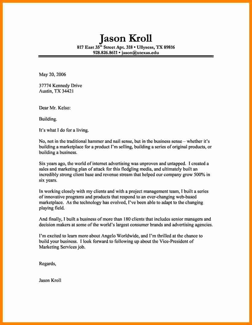 Letter Of Introduction Templates Best Of 5 Cover Letter Introduction