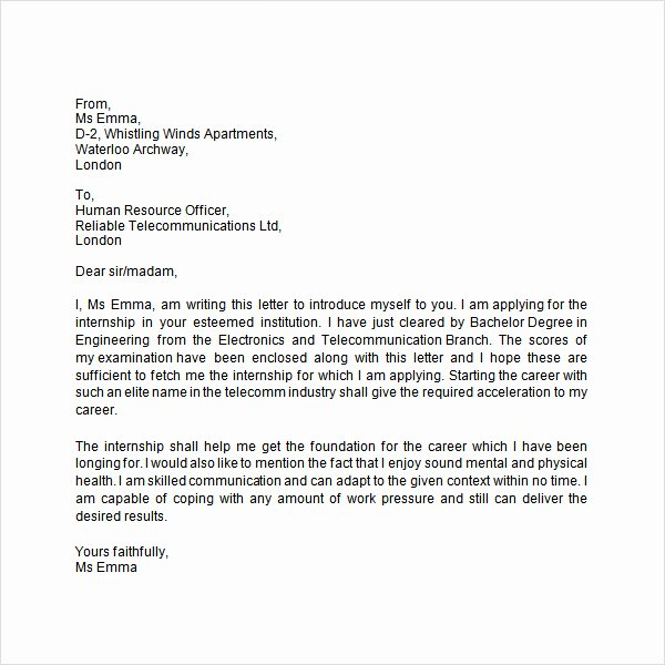 Letter Of Introduction Templates Best Of Free 33 Sample Introduction Letters In Doc