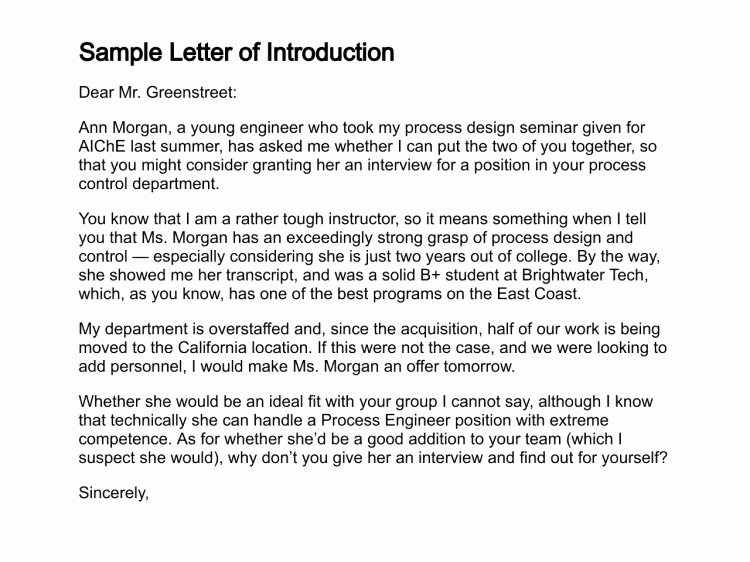 Letter Of Introduction Templates Fresh 12 Sample Introduction Letters Sample Letters Word