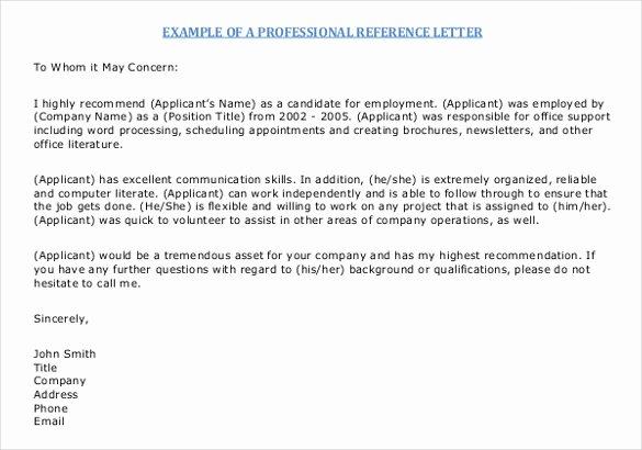 Letter Of Reccomendation Template Elegant 42 Reference Letter Templates Pdf Doc
