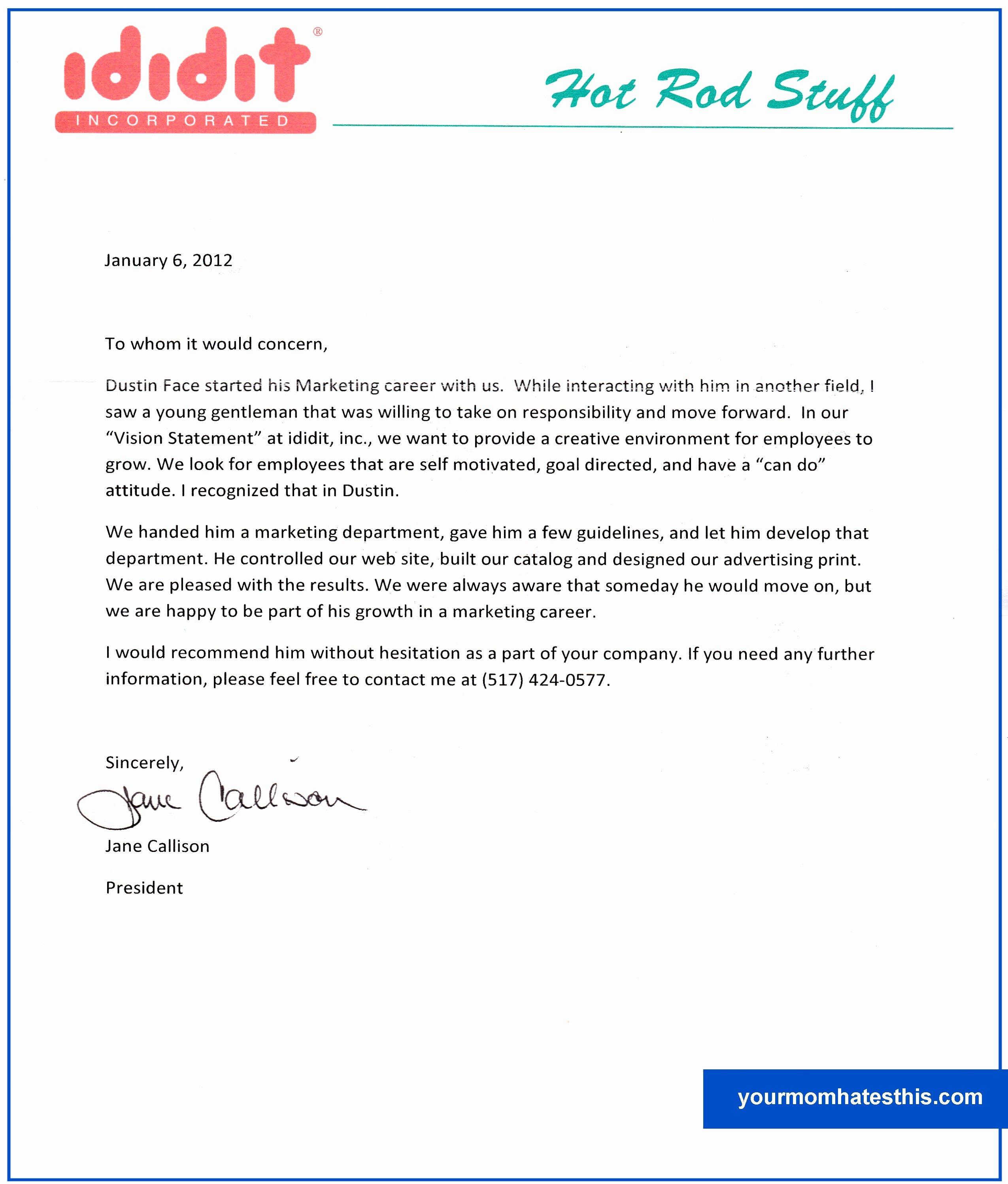 Letter Of Recomendation Templates Unique Download Letter Of Re Mendation Samples
