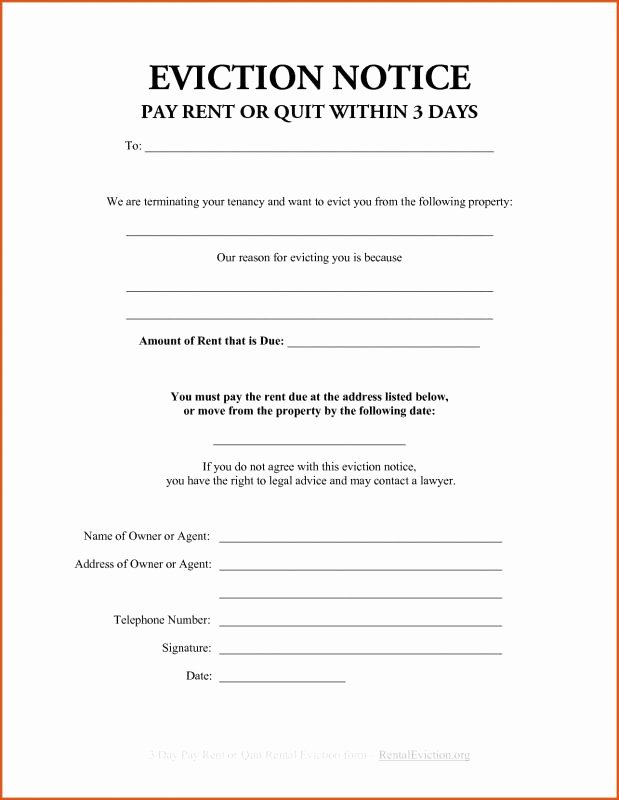 Letters Of Eviction Template Elegant Sample Eviction Notice