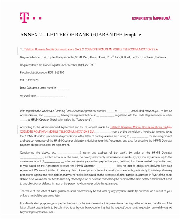Letters Of Guarantee Templates Lovely 54 Guarantee Letter Samples Pdf Doc