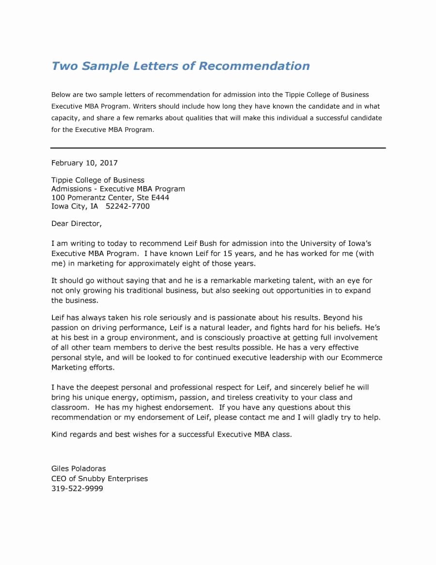 Letters Of Recommendation Template Awesome 43 Free Letter Of Re Mendation Templates & Samples