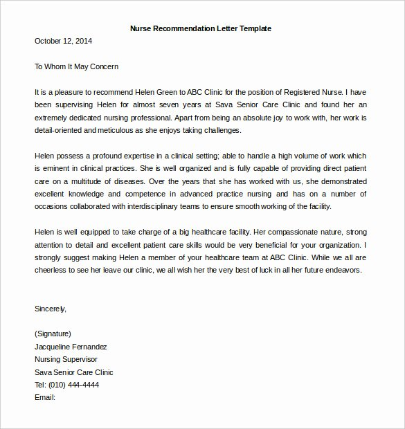 Letters Of Recommendation Template New 30 Re Mendation Letter Templates Pdf Doc