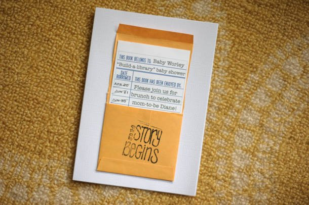 Library Card Invitations Template Best Of Book themed Baby Shower Brunch