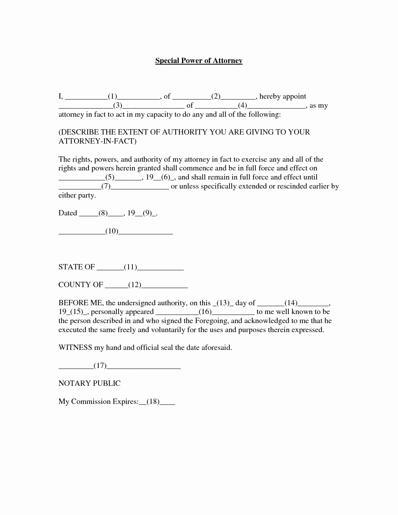 Limited Power Of attorney Template Awesome Power attorney Template