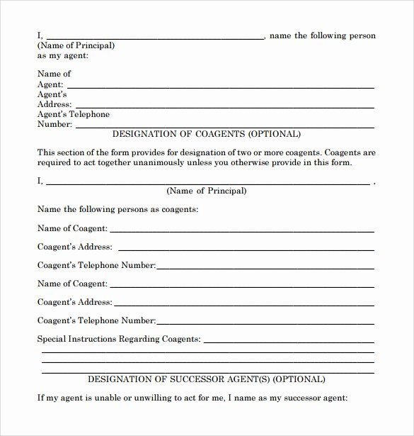 Limited Power Of attorney Template Fresh Sample Limited Power Of attorney forms 8 Free Documents