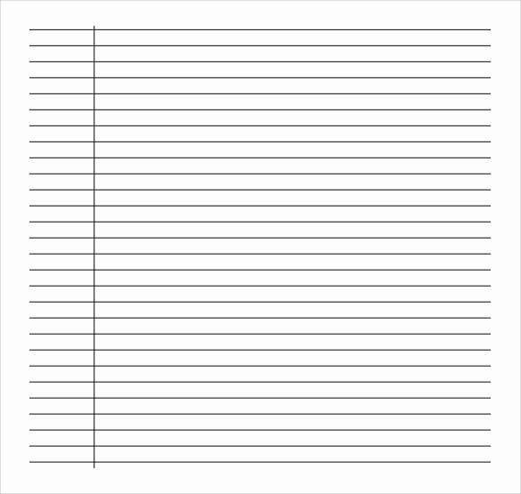 Lined Paper Template Pdf Best Of Free 9 Sample College Ruled Paper Templates In Pdf