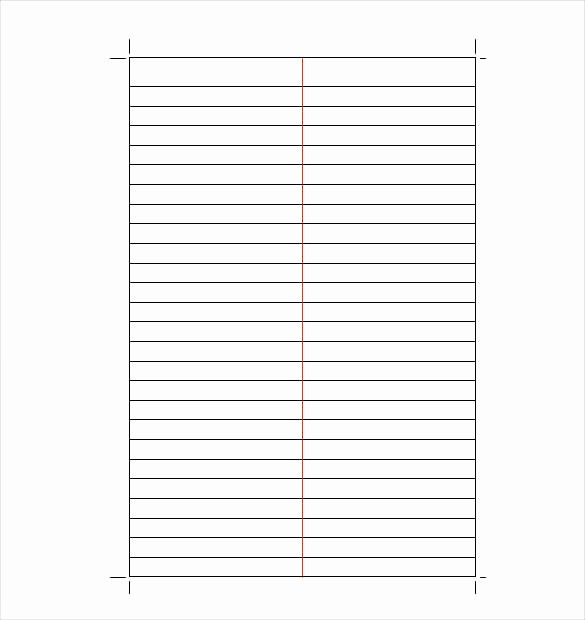 Lined Paper Template Pdf Elegant 10 Lined Paper Templates Doc Pdf Excel