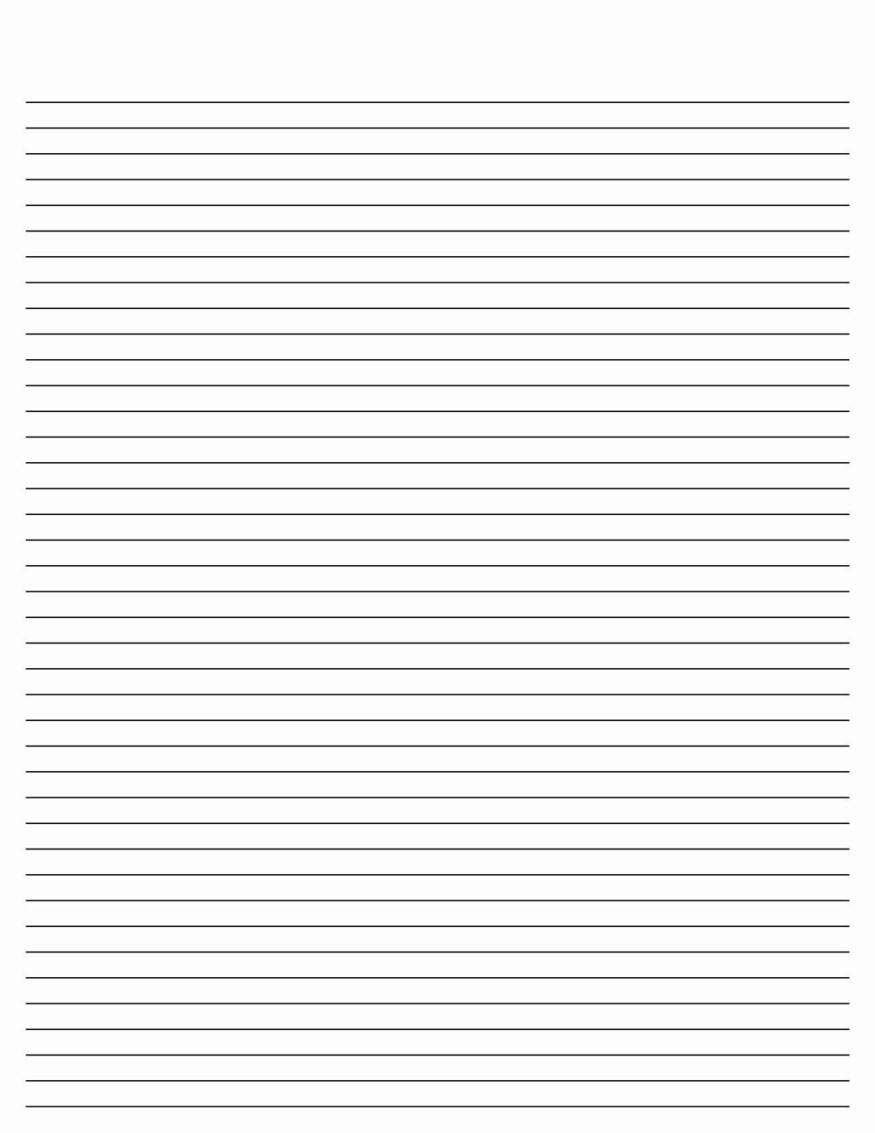 Lined Paper Template Pdf Elegant Blank Lined Paper Template