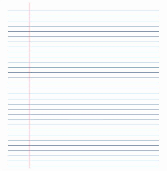 Lined Paper Template Pdf Elegant Free 11 Lined Paper Templates In Pdf