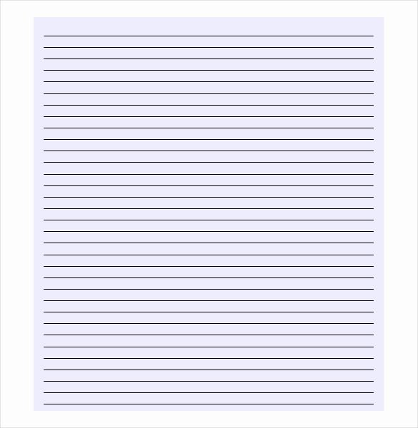 Lined Paper Template Pdf Fresh 10 Lined Paper Templates Doc Pdf Excel