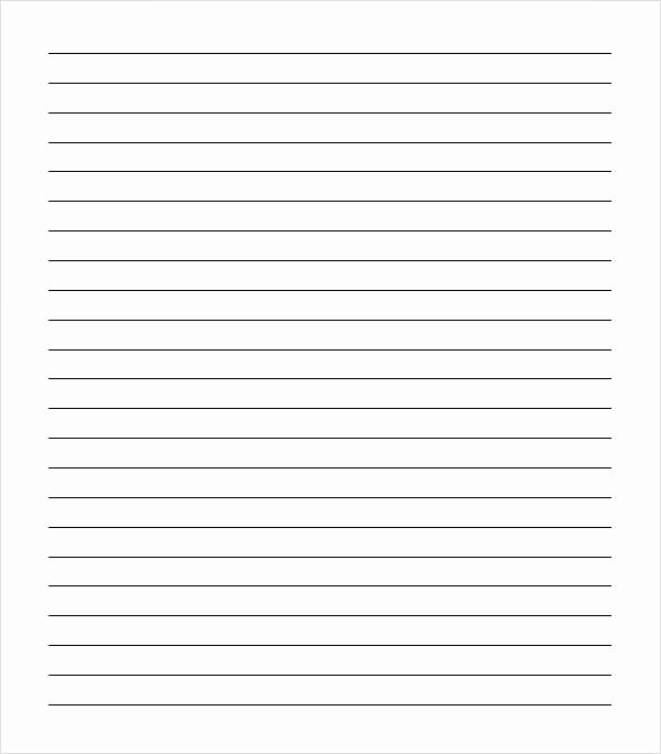 Lined Paper Template Pdf Fresh Free 9 Sample College Ruled Paper Templates In Pdf
