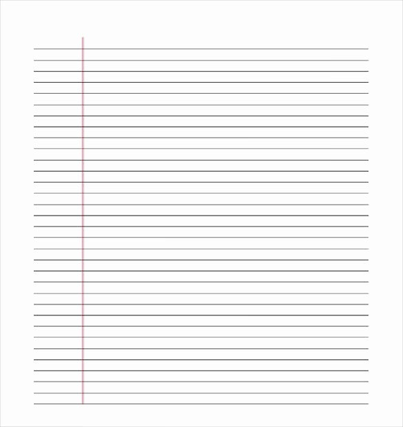 Lined Paper Template Pdf Fresh Lined Paper Template Pdf