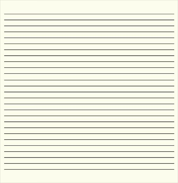 Lined Paper Template Pdf Lovely Lined Paper Template 12 Download Free Documents In Pdf