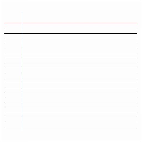Lined Paper Template Pdf New Free 6 Printable Writing Paper Templates In Pdf