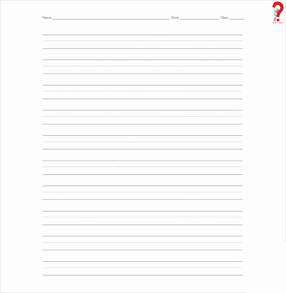 Lined Paper Template Pdf New How to Use Printable Lined Paper Template In Pdf & Word