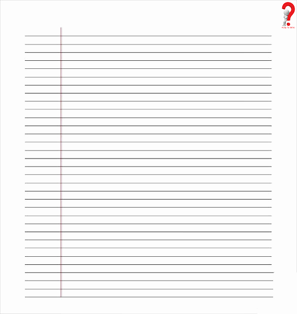 Lined Paper Template Pdf Unique How to Use Printable Lined Paper Template In Pdf & Word