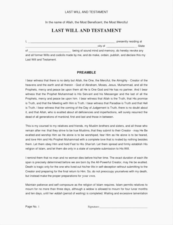 Living Will Template Free Awesome Lucrative Free Printable Last Will and Testament Blank