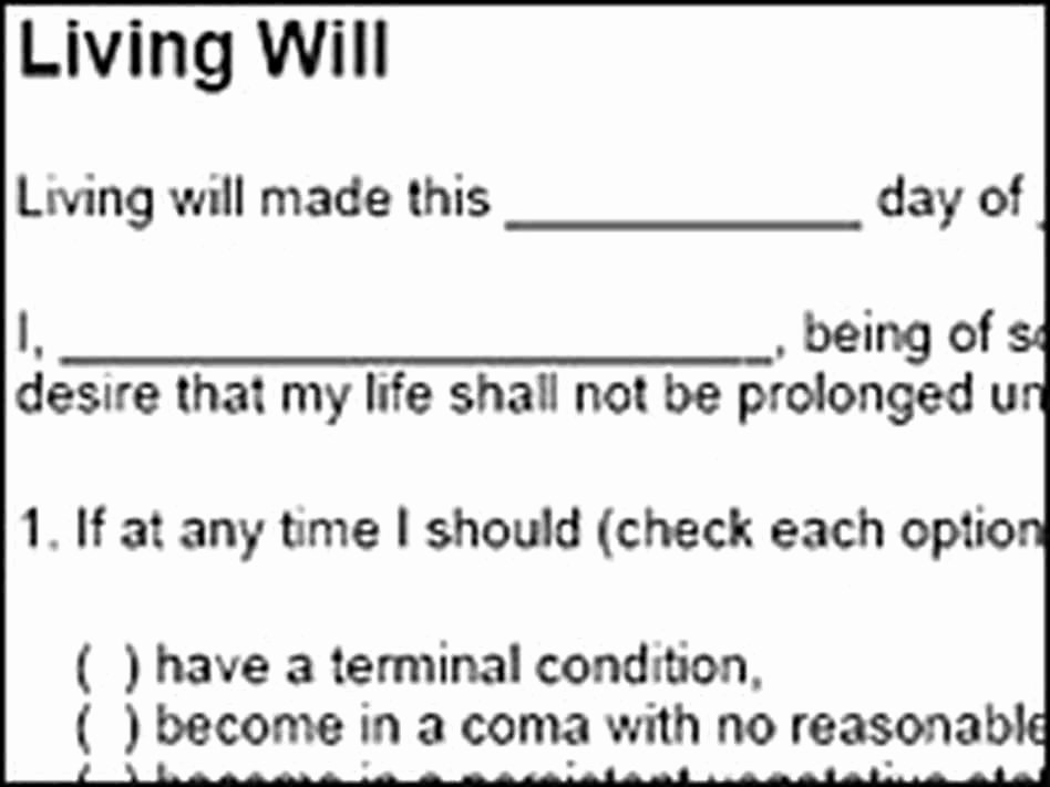Living Will Template Free Best Of Schiavo Case Sparks Interest In Living Wills Npr