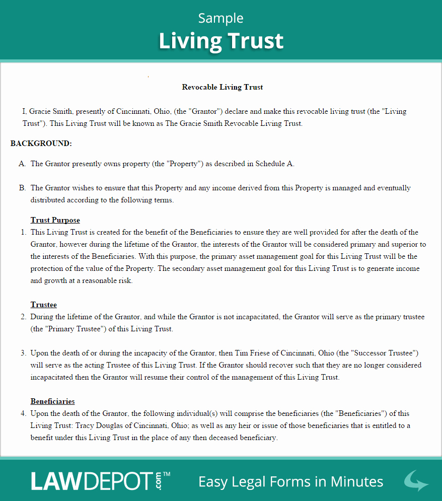 Living Will Template Free Elegant Free Revocable Living Trust Create Download and Print