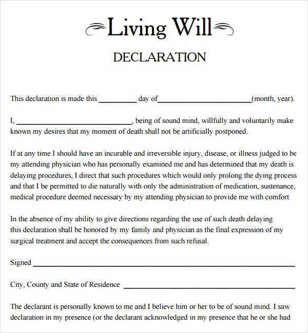 Living Will Template Free New 6 Texas Will Template 32 Texas Living Will Template 896