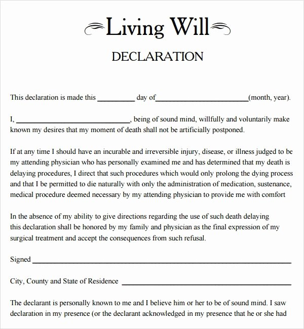 Living Will Template Pdf Fresh Living Will Template 8 Download Free Documents In Pdf