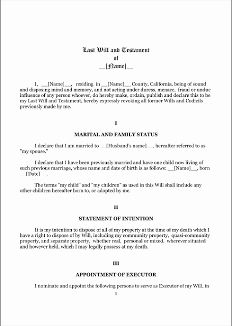 Living Will Template Pdf Inspirational Last Will and Testament Template form Mississippi