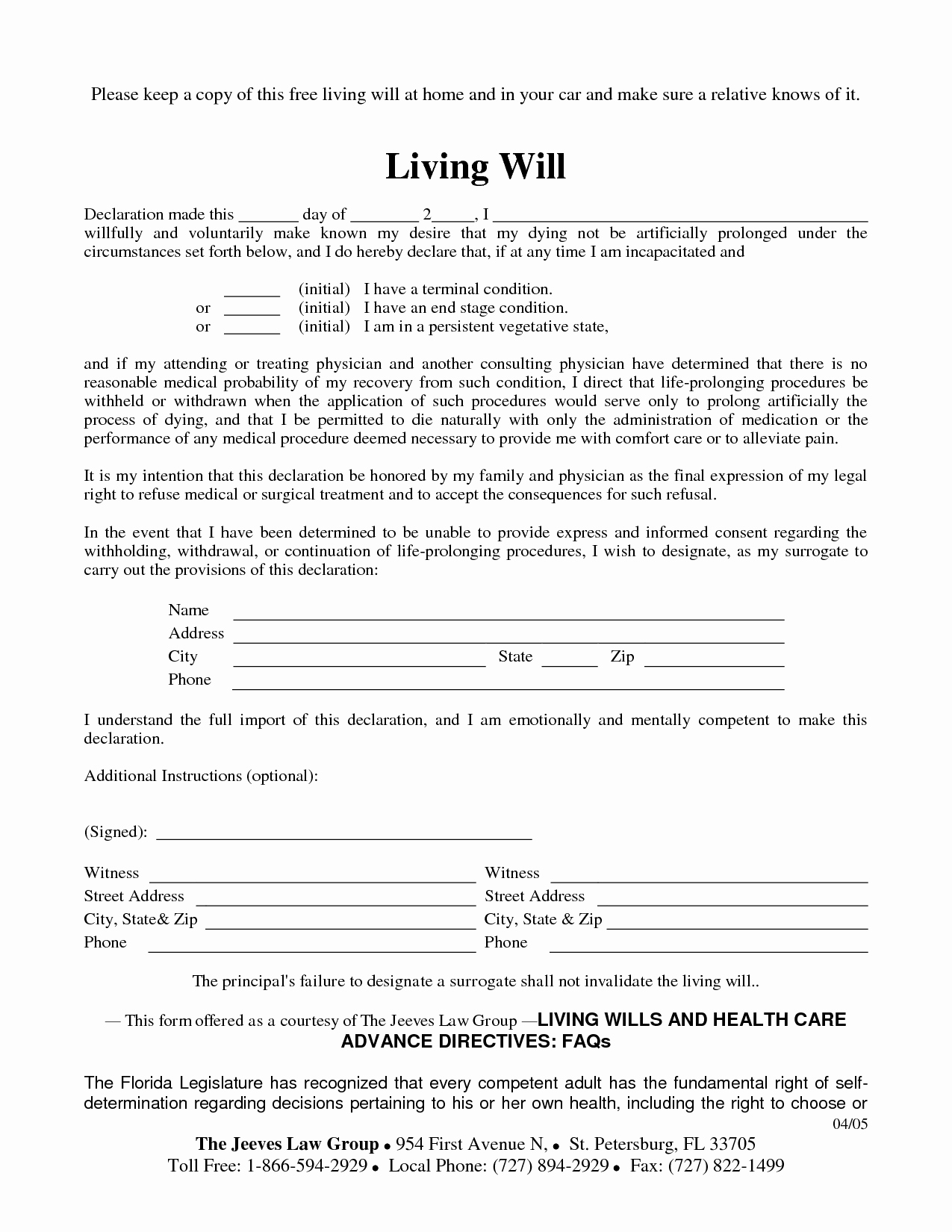 Living Will Template Pdf New Free Copy Of Living Will by Richard Cataman Living Will