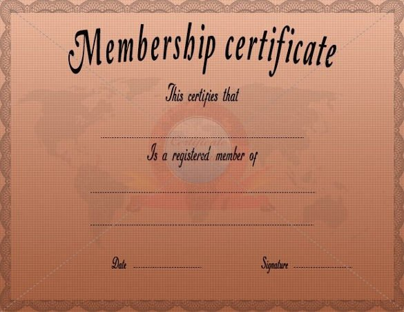 Llc Member Certificate Template Awesome 23 Membership Certificate Templates Word Psd In
