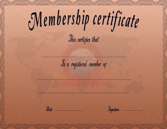 Llc Member Certificate Template Awesome 23 Membership Certificate Templates Word Psd In