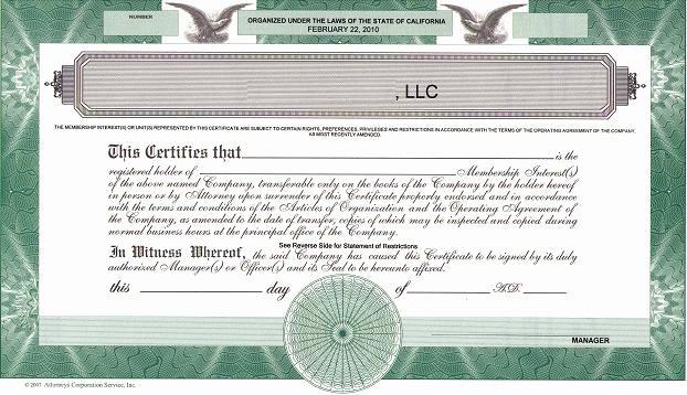 Llc Member Certificate Template Luxury Should We issue Llc Membership Certificates the High