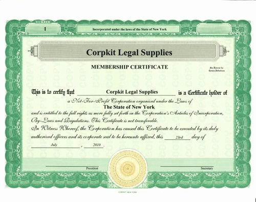 Llc Member Certificate Template Unique Stock Certificates