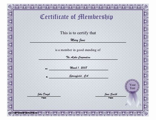 Llc Membership Certificates Templates Awesome A Blue Purple Certificate Of Membership Certifying Good