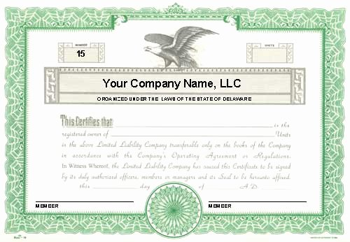 Llc Membership Certificates Templates Awesome Custom Printed Certificates Limited Liability Pany