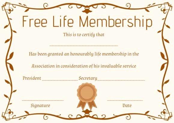 Llc Membership Certificates Templates Inspirational Free Life Membership Certificate Template