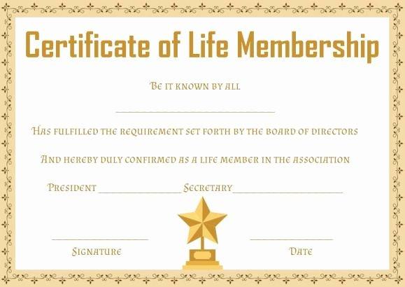 Llc Membership Certificates Templates Inspirational Free Life Membership Certificate Templates