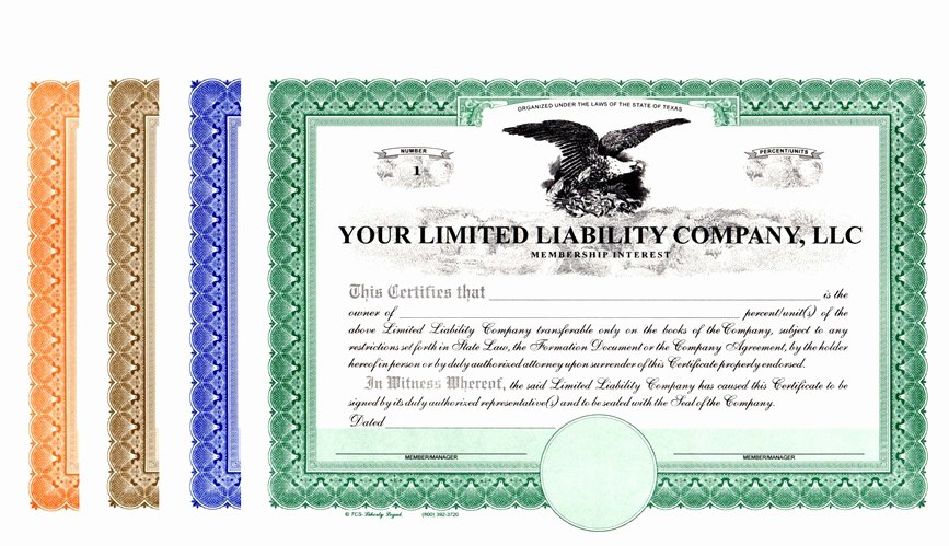 Llc Membership Certificates Templates Inspirational Limited Liability Pany Certificates