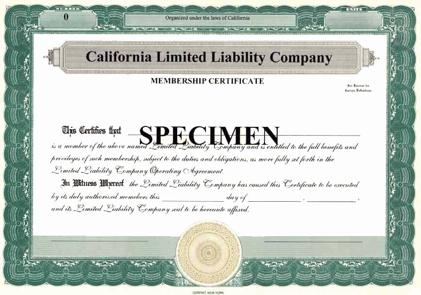 Llc Membership Certificates Templates Inspirational Membership Certificate for A Limited Liability Pany