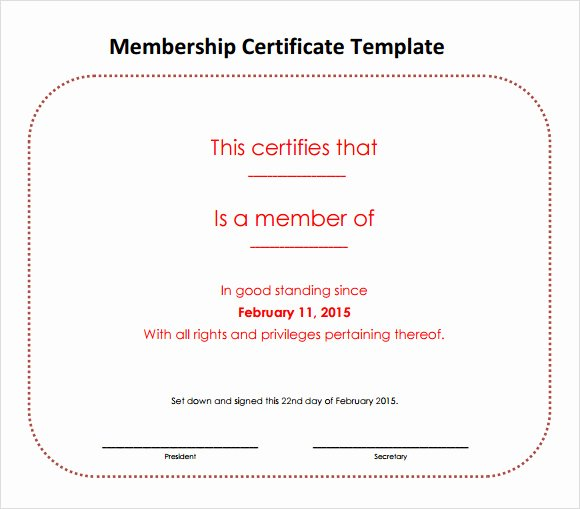 Llc Membership Certificates Templates Inspirational Membership Certificate Template 15 Free Sample Example