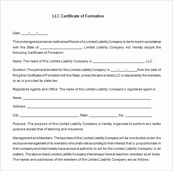 Llc Membership Certificates Templates New 10 Membership Certificate Templates
