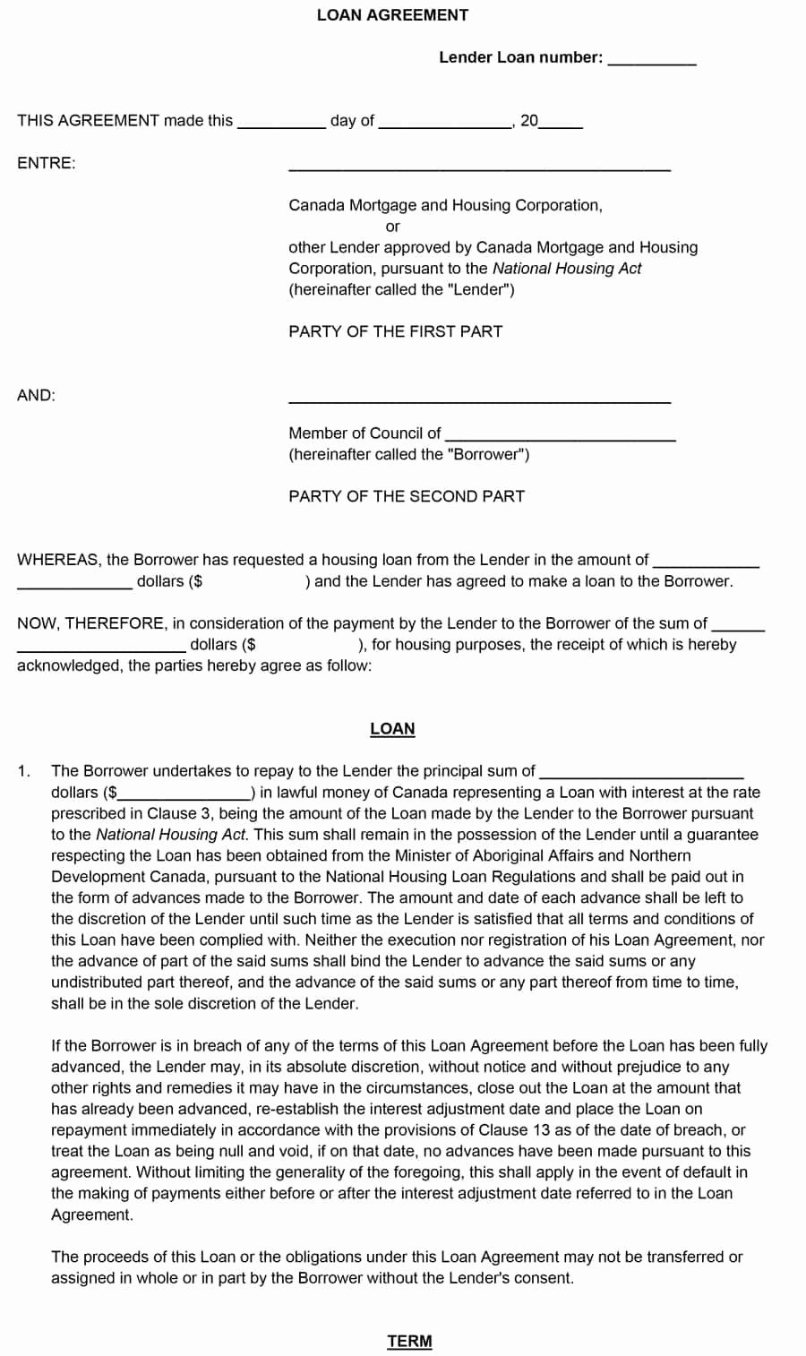 Loan Agreement Template Pdf Elegant 40 Free Loan Agreement Templates [word & Pdf] Template Lab
